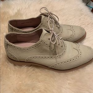 Cole Haan White Pine Pink Alisa Wingtip Oxfords